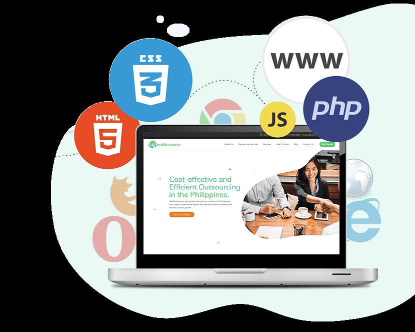Website Design Development For Different Industries Vast Outsource Solutions